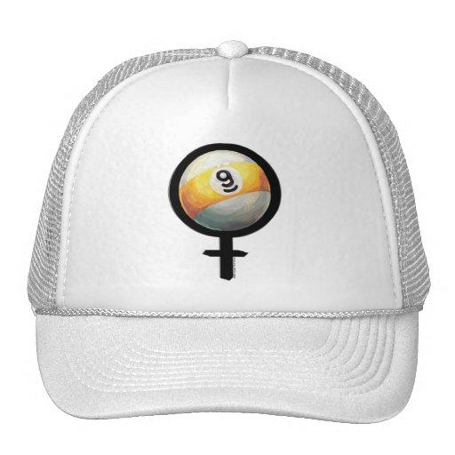 9 ball trucker hat