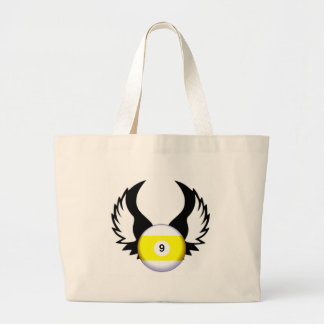 9 Ball with Wings Tote Bag