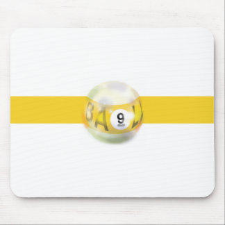 9 Ball Yellow Stripe Mouse Pad