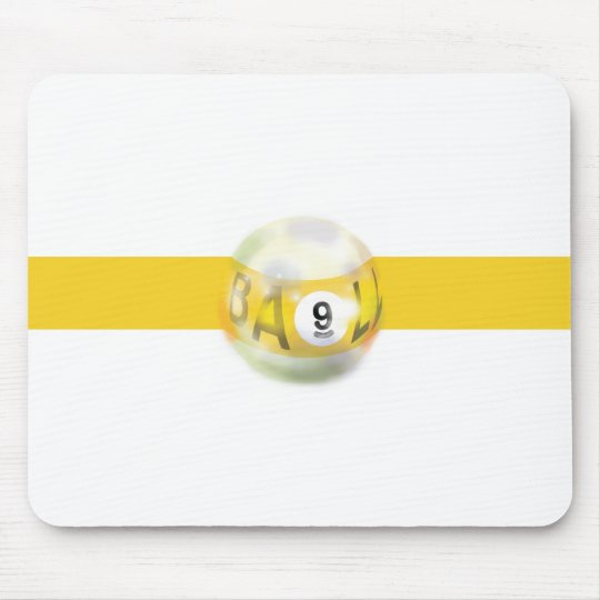 9 Ball Yellow Stripe Mouse Pad