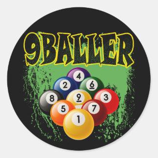 9 BALLER CLASSIC ROUND STICKER