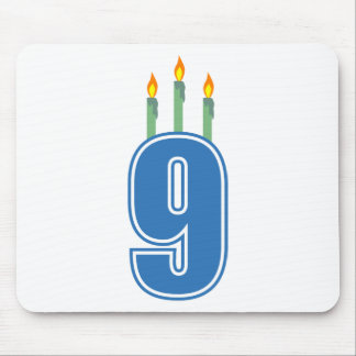 9 Birthday Candles (Blue / Green) Mouse Pad