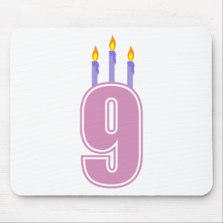 9 Birthday Candles (Pink / Purple) Mouse Pad