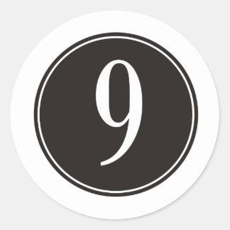 9 Black Circle Stickers