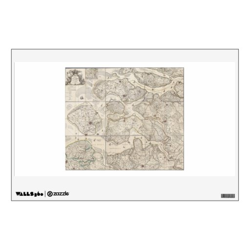 9 bladed map of the province of Zeeland Zealand Wall Decals