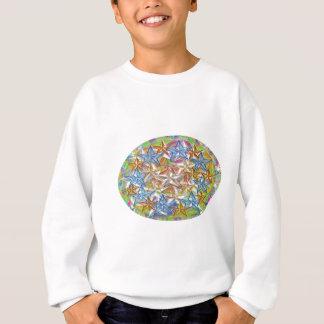 9 BlueStar n Nine GoldStar - Oval n Round Print Sweatshirt