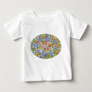 9 BlueStar n Nine GoldStar - Oval n Round Print Tshirts