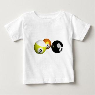 9 bolas de piscina de la bola 3D Camisas