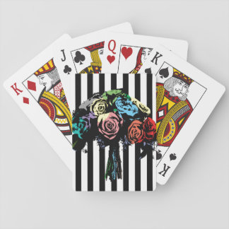 9.bouquet- girly stripes playing cards