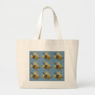 9 Bumblebees Large Tote Bag