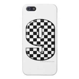 9 checkered auto racing number cover for iPhone SE/5/5s