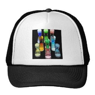 9 Coloured Cocktail Shot Glasses -Black Back Trucker Hat