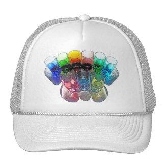 9 Coloured Cocktail Shot Glasses -Style 1 Trucker Hat