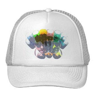 9 Coloured Cocktail Shot Glasses -Style 3 Trucker Hat