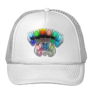 9 Coloured Cocktail Shot Glasses -Style 6 Trucker Hat
