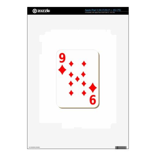 9 del naipe de los diamantes iPad 3 skins