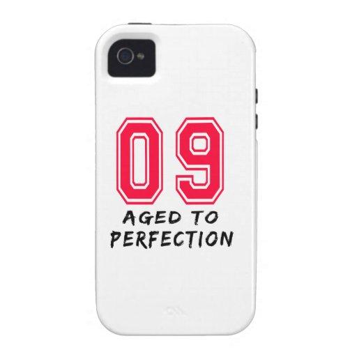 9 envejeció al diseño del cumpleaños de la perfecc Case-Mate iPhone 4 fundas