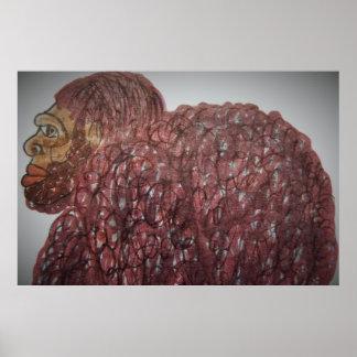9 ft/274 cm tall Homo-erectus bf Print