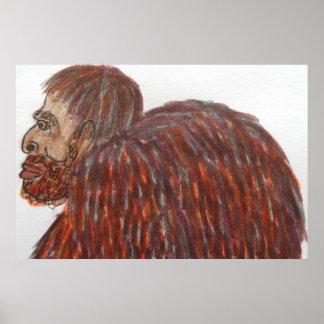 9 ft/274 cm tall mixed race Homo-erectus Poster