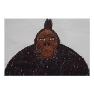 9 ft/275 cm tall Yeti ape man giant Posters