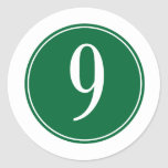 #9 Green Circle Stickers