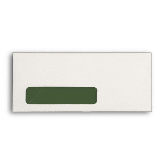 #9 - Green & Cream Monogram (Green inside) Envelope