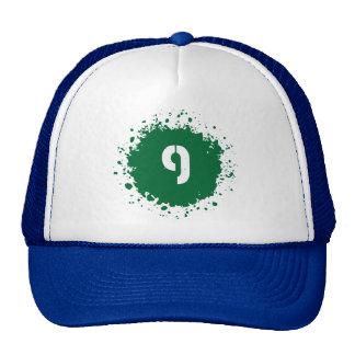 9 Green Splatter Mesh Hat