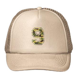 9 Green Yellow Camo Mesh Hat