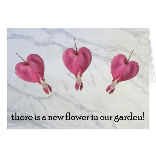 9 hay una nueva flor en nuestro jardín tarjeta
