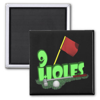 9 Holes 2 Inch Square Magnet