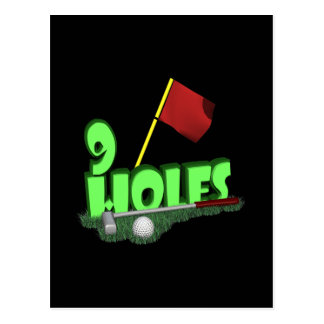 9 Holes Postcard