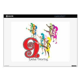 9 Ladies Dancing Laptop Skin
