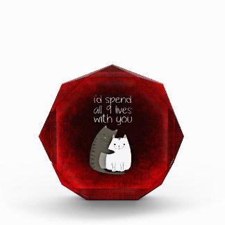9 Lives Cat, Feline Love Acrylic Award