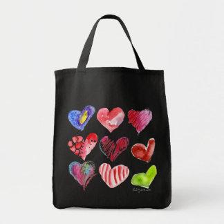 9 Love Hearts Tote Bag