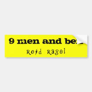9 men and ben car bumper sticker
