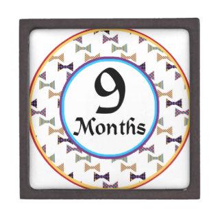 9 meses de jalón de la pajarita caja de regalo de calidad