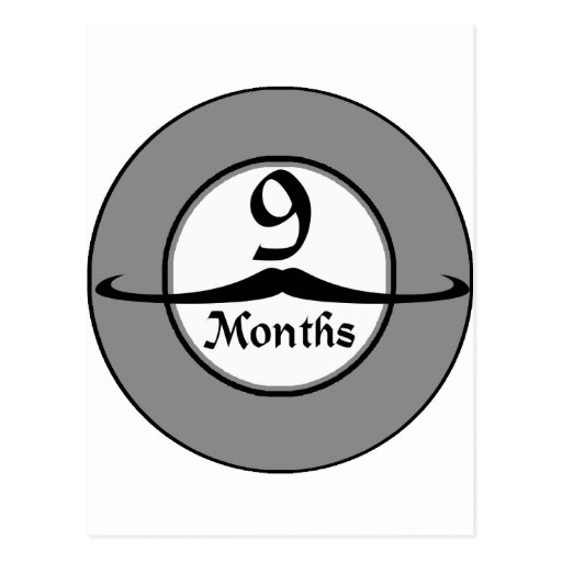 9 meses de jalón del bigote tarjetas postales