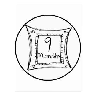 9 meses de jalón del Doodle Postales