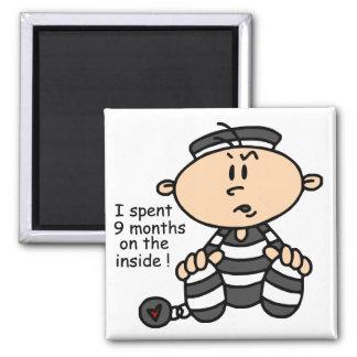 9 meses en el preso interior del bebé imán cuadrado