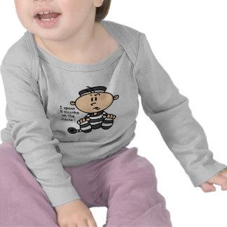 9 meses en el preso interior del bebé camisetas