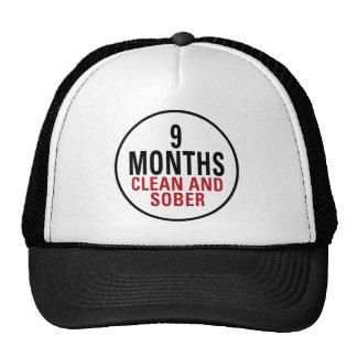 9 meses limpian y calman gorra