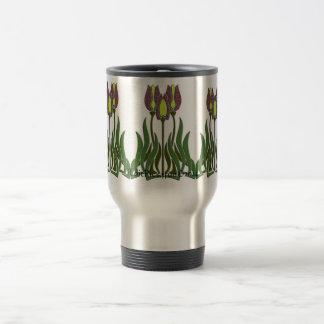 9 Modern Tulips Stainless Travel Mug