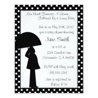9 Month Forecast Baby Shower Invitation