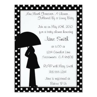 9 Month Forecast Baby Shower Invitation