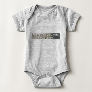 9 Month Journey Completed Baby Bodysuit