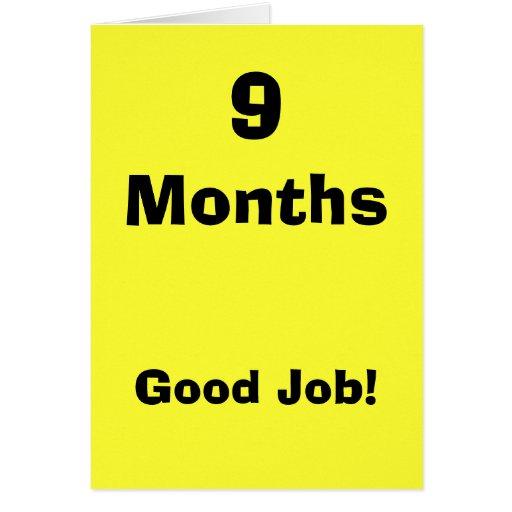 9 Months Card