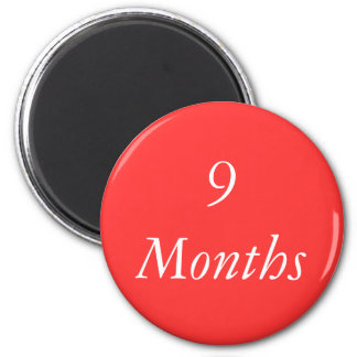 9 Months Chip Fridge Magnet