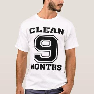 9 Months Clean! T-Shirt