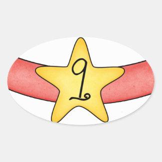 9 Months Inspired Milestone Oval Sticker