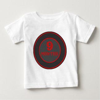 9 Months Nautical Pirate Milestone Baby T-Shirt